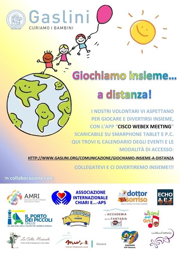 Ospedale Gaslini - Giochiamo insieme a distanza